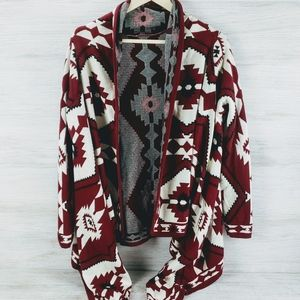 H&M DIVIDED Open Flow Aztec Cardigan